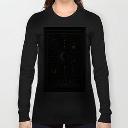 The Moon or La Lune Gold Edition Langarmshirt