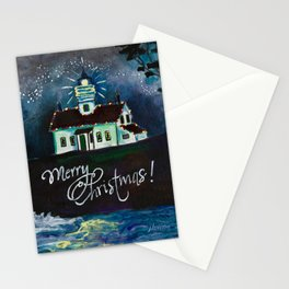 Christmas at Battery Point Lighthouse Stationery Cards