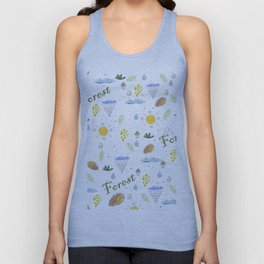forest trees Unisex Tank Top