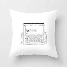 Sidekick text - U up?  Throw Pillow