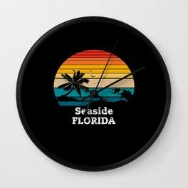 Seaside FLORIDA Wall Clock