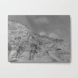 Eroding Graffiti Cliff Metal Print