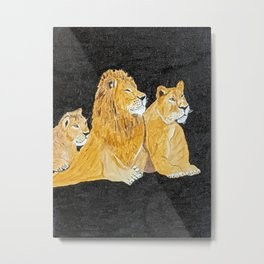 lion family Metal Print