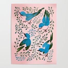 Birds in Spring Poster