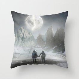 Moon of love Throw Pillow