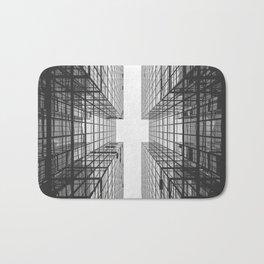 Black and White Skyscraper Bath Mat