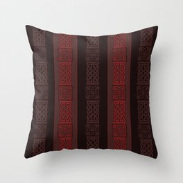 Viking dark red Throw Pillow