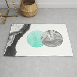 Suno - nature space planet marble abstract painting japanese marble watercolor paper marbling pastel Rug