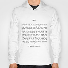 Life quote F. Scott Fitzgerald Hoody