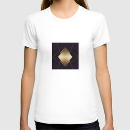 Rich Gold and Purple Accent Diamond Pattern T-shirt