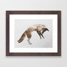 Jumping Fox Framed Art Print