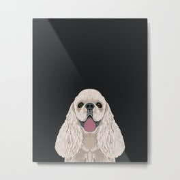Harper - Cocker Spaniel phone case gifts for dog people dog lovers presents Metal Print
