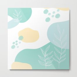 Pastel Pop in Mint Metal Print