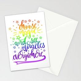 Choose magic (rainbow) Stationery Cards