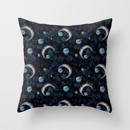 Moons & Diamonds Throw Pillow