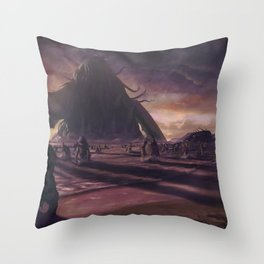 Cthulhu fhtagn no more Throw Pillow