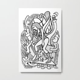 Sing The Glues - PopCore 02 Metal Print