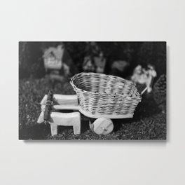 Miniature oxen-cart Metal Print
