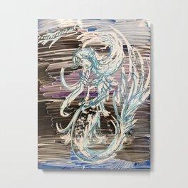 Darkwater Mermaid Metal Print