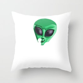Alien Grandpa Funny UFO Extraterrestrial Space Throw Pillow