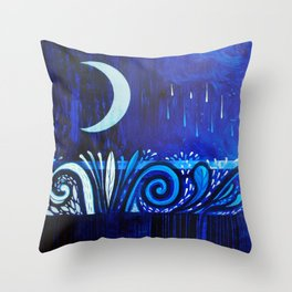 Between two waters Throw Pillow