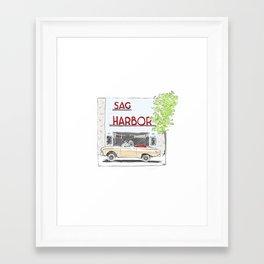 Sag Harbor Movie Theater Framed Art Print
