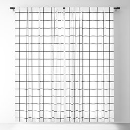 Grid Pattern Stripes Lines Black and White Minimalist Geometric Stripe Line Blackout Curtain
