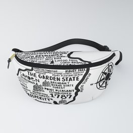 New Jersey Map  Fanny Pack