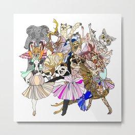 Party Animals Metal Print