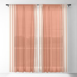 Marmalade & Crème Vertical Gradient Sheer Curtain