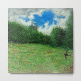 Summer Meadow Swift Metal Print