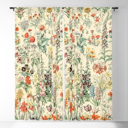 Wildflower Diagram // Fleurs II by Adolphe Millot XL 19th Century Science Textbook Artwork Blackout Curtain