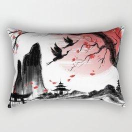 Japanese landscape Rectangular Pillow