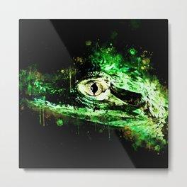 alligator baby eye wsb Metal Print