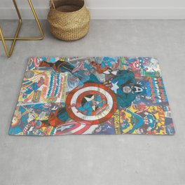 The American Superhero - Comic Art Rug
