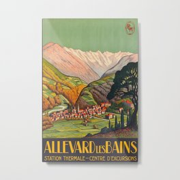 Allevard les Bains Vintage Travel Poster Metal Print