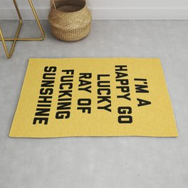 Ray Of Fucking Sunshine Funny Quote Rug
