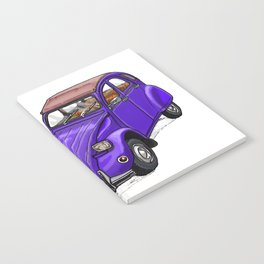 Purple 2CV Notebook