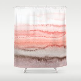 WITHIN THE TIDES CORAL DAWN Shower Curtain