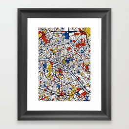 Paris Mondrian Framed Art Print