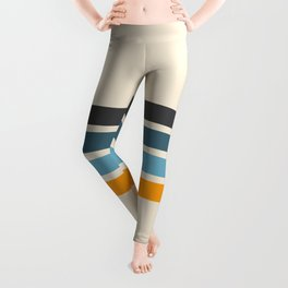 Vintage Retro Stripes Leggings