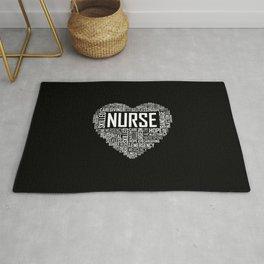 Love Nurse Heart Rug