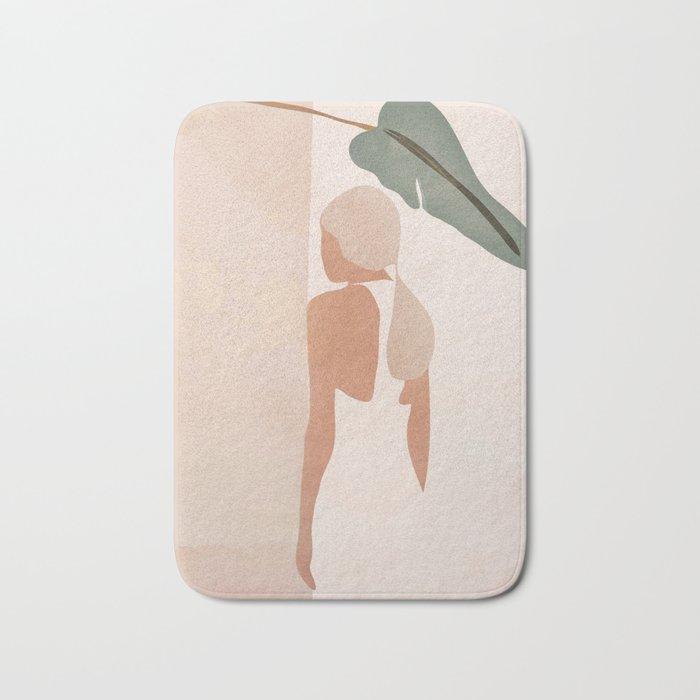 Abstract Woman in a Dress Bath Mat