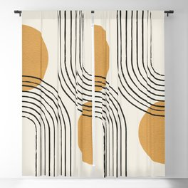 Sun Arch Double - Gold Blackout Curtain
