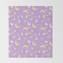 Moody Rabbits Throw Blanket