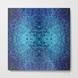 Deep blue glass mosaic Metal Print