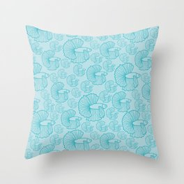 shoal of fish in the turquoise ocean Throw Pillow