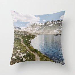 High Sierra Lake Throw Pillow