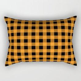 Plaid (orange/black) Rectangular Pillow