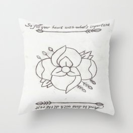 La Dispute Logo Tattoo Throw Pillow